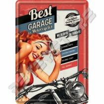 Retró Fém Képeslap - Best Garage For Motorcycles